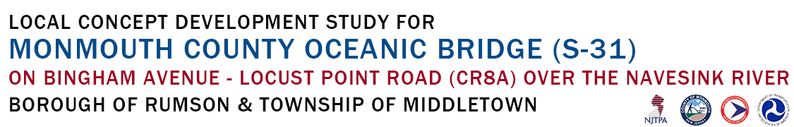 Local Concept Development Study for Monmouth County Oceanic Bridge (S-31) on Locust Point Road - Bingham Avenue (CR8A) Over the Navesink River Logo
